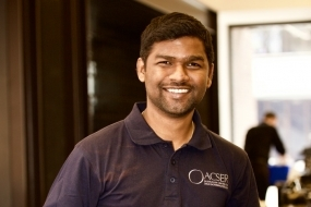 Arunkumar Rathinam, winner of the 2018 SCAG Move an Asteroid competition